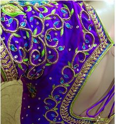 Wedding Saree Blouse Designs, Blouse Designs Silk, Designer Blouse Patterns, Hand Designs, Flower Designs, Aari Work Blouse, Maggam Works, Traditional Sarees, Indian Jewelry