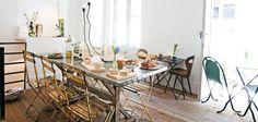 C/ Sta Teresa, 8 Jukebox, Cafe Design, Interior Design, Dining Room, Dining Table, Bright Kitchens, Cafe Bar, Restaurant Bar, Table Settings