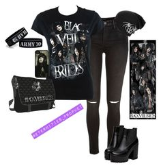 """""""Black Veil Brides :)"""" by blackveilbridesbvbsixx ❤ liked on Polyvore featuring River Island, women's clothing, women's fashion, women, female, woman, misses and juniors"""
