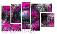 Abstract silver#cerchio #pink #fuxia #art paint#paint #handmade #cute