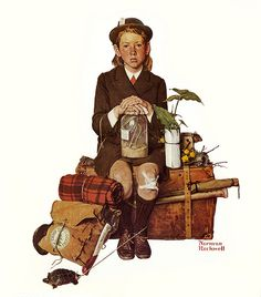 1940- Returning From Camp -by Norman Rockwell