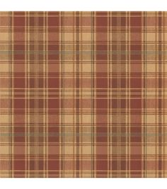 Treat your walls to a traditional wool plaid warmth. This tawny red and golden brown tartan weave has an authentic fabric detail, bringing a classic style to walls. Prepasted Non-Woven Material10.25-i