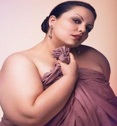 Plus size lady--natural beauty