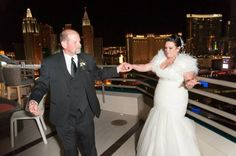 Father-Daughter Dance with a View at this Modern MGM Grand Skyline Terrace Suite Wedding from Tyler Freear Photography // Featured on Little Vegas Wedding