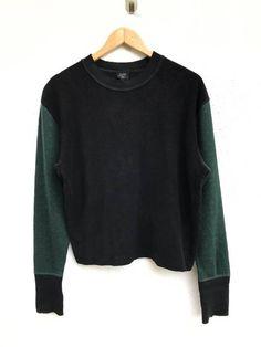 """Jean Paul Gaultier Jean Paul Gaultier Wool Black Green Two Tones Colour Crewneck Knit Sweatshirt Armpit 21""""x21"""" Size m - Sweaters & Knitwear for Sale - Grailed"""