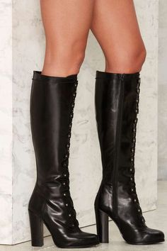 Nasty Gal Take It Up a Notch Leather Boot - Boots + Booties | Fall Bohemia | Grunge | Romantic Revolution