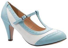 OLIVIA K Womens Mary Jane Pumps - Low Heels - Two Color Vintage Retro Round Toe Shoe  #love @shoppevero @amazon #want #shoppevero