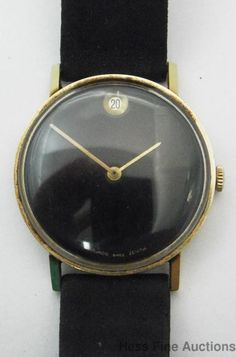 Scarce Early Mens ZENITH Movado Museum Mechanical Watch with Date Zenith #Zenith