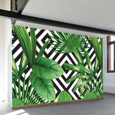 Over Diamonds Wall Mural Palms Over Diamonds Wall Mural. 4 panels= wide 6 panels= wide 8 widePalms Over Diamonds Wall Mural. Outdoor Wall Paint, Outdoor Walls, Flur Design, Wall Design, Design Design, Mural Wall Art, Mural Painting, Bathroom Mural, Bathroom Faucets