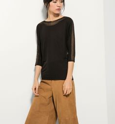 TOP WITH TRICOT BAND - New arrivals - WOMEN - Serbia - Massimo Dutti