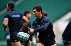 Matias Moroni Photos Photos - Matias Moroni releases a pass during the Argentina Captain's Run ahead of The Rugby Championship match against Australia at Twickenham Stadium on October 7, 2016 in London, England. - Argentina Captain's Run