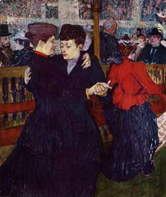 Henri de Toulouse-Lautrec (Henri de Toulouse Lautrec): At the Moulin Rouge: the Two Waltzers