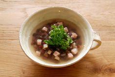 小豆とベーコンのスープ