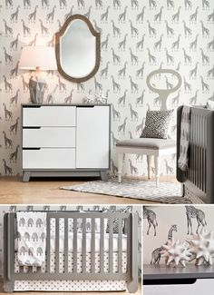 Incredibly chic Nursery designed by Pulp Home | Enter for your chance to win everything in this nursery!