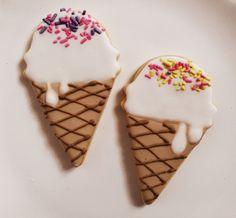 Deco cookies Ice cream party Sprinkles