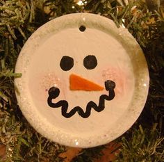 canning lid snowman