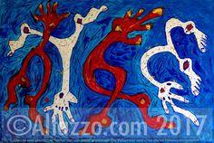 """""""El carnaval"""", 80x120 cm, acrylic on canvas, original artwork by Altazzo (Adalberto Martínez Alvarez), www.altazzo.com"""