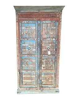 Antique Cabinet, Blue Distressed Teak Doors, India Furnit... https://www.amazon.com/dp/B078KQHB7S/ref=cm_sw_r_pi_dp_U_x_T3erAb89YQDET