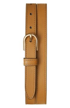 Women's Shinola U-Shape Leather Belt, Size Small - Light Cognac Shinola, Smooth Leather, Nordstrom, Belt, Shape, My Style, Number, Accessories, Medium