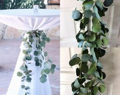 Silver Dollar Eucalyptus Garland Wedding Garland Greenery Garland Seeded Eucalyptus Garland Garland Eucalyptus Wedding Featuring realistic looking artificial silk silver dollar eucalyptus stems , this garland is perfect for hanging over do. Eucalyptus Centerpiece, Greenery Centerpiece, Eucalyptus Garland, Greenery Garland, Seeded Eucalyptus, Eucalyptus Wedding, Boxwood Garland, Eucalyptus Silver Dollar, Eucalyptus Bouquet