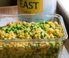 Easy Cheezy Kids pasta- vegan. My boys love peas and mac n cheese, will definitely be making this.