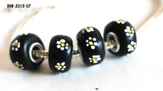 Handmade Polymer Clay Beads, Polymer Clay Beads for Sale, Jewelry Making Supplies, Euro Style Beads, BHB