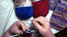 2 in 1 socks on dpns - knit one sock inside the other - KNIT THE LEGS - ...