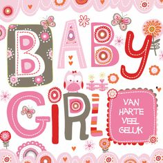Gefeliciteerd Baby Girl - Felicitatiekaarten - Kaartje2go