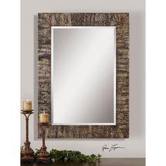 Coaldale Mirror Uttermost Rectangle Mirrors Home Decor
