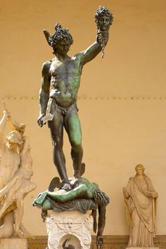 Statue Of Perseus with the head of Medusa by Cellini - The Loggia - Florence - Italy Perseus And Medusa, Medusa Art, Ancient Greek Sculpture, Greek Statues, Masculine Art, Found Art, Classic Paintings, Sketch Inspiration, Art Challenge