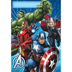 2.49AUD - Avengers Loot Bags 8 Pack Favor Iron Man Captain America Birthday Party Supplies #ebay #Home & Garden