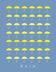 Promotional poster for RAIN Anthology Yellow Umbrella, Rain Umbrella, Under My Umbrella, I Love Rain, Singing In The Rain, Pictures Of People, Background Patterns, Rainy Days, Paper Cutting