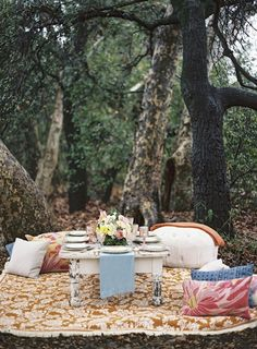"Such a fun idea from Sterling Social in this outdoor bohemian ""Free People"" style Bridesmaid lunch with Found Vintage Rentals, Casa De Perrin and Braedon Photography"