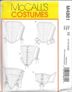 Corset Stays Bodice Sewing Pattern Renaissance Medieval McCalls Must Find! Renaissance Corset, Renaissance Fair, Sewing Crafts, Sewing Projects, Sewing Ideas, Diy Projects, Corset Costumes, Boned Corsets, Retro Mode