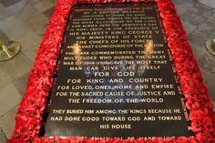 Westminster Abbey: Tomb of the Unknown Soldier. Westminster Abbey London, Royal Monarchy, The Guernsey Literary, Armistice Day, Unknown Soldier, History Class, Tower Of London, British History, Best Cities