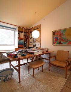 Finn Juhl's home--great art.