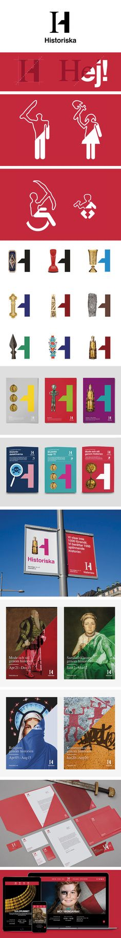 More corporate-designs are collected on: https://pinterest.com/rothenhaeusler/best-of-corporate-design/ · Agency: Bold · Client:  Historiska · Source: http://www.boldscandinavia.com/work/the-swedish-history-museum/ #branding #identity #corporatedesign