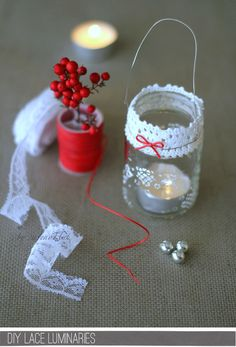 this looks adorable - little lace lantern