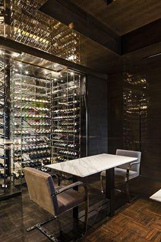 Cave à vin vitrée design - Sur mesure - Provintech - Architecte Olivier Lempereur