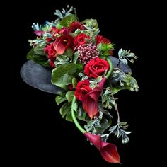 Casket Flowers, Grave Flowers, Funeral Flowers, Funeral Arrangements, Flower Arrangements, Arte Floral, Flower Pictures, Ikebana, Halloween Diy