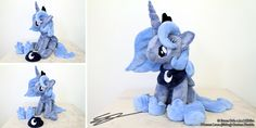 Princess luna Sitting MLP Plushie by LiChiba.deviantart.com on @DeviantArt