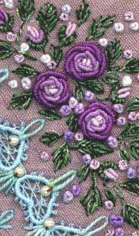 Closed fly stitch in Sharon B's Dictionary of Stitches for Hand Embroidery and Needlework