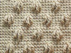 Tunisian Claw Stitch in Tunisian 36 Pattern Sampler by Renate Kirkpatrick