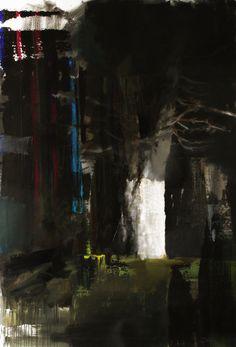 Adrian Ghenie: Study for self portrait, 2011, collage on canvas, 30 x 40 cm