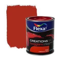 Flexa Creations lak hoogglans vibrant red 750 ml
