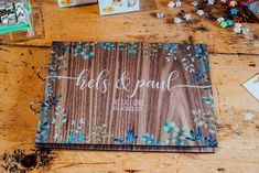 Wooden Guest Book Sparkly Wedding Anna Pumer Photography #WoodenGuestBook #GuestBook #Wedding