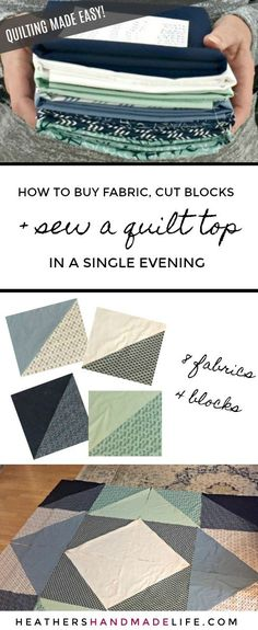 Best Pictures Quilting for beginners Thoughts Super easy quilt top for beginners Heather's Handmade Life Quilting For Beginners, Quilting Tips, Quilting Tutorials, Machine Quilting, Quilting Projects, Quilting Designs, Sewing Projects, Beginner Quilting, Easy Hand Quilting