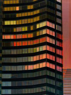 Building By Night by Cécile Van Hanja,  (Haarlem)