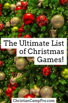 The Ultimate List of Christmas Games total games) : Christmas is the most wonderful and busiest time of the year! Because of this, we put together the ultimate list of Christmas games total games). Christmas Gift Exchange Games, Xmas Games, Christmas Games For Family, Holiday Games, Christmas Party Games, Christmas Gift For You, The Night Before Christmas, Christmas Activities, Christmas Holidays