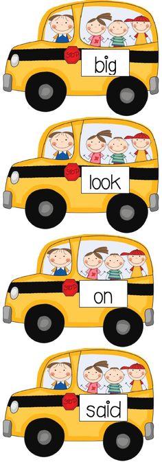 Sight Word Bus FREEBIE!
